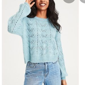 American Eagle Pointelle Knit Sweater